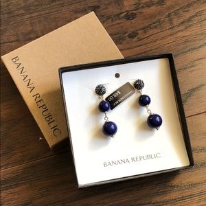 🆕 Banana Republic Navy Bauble Drop Earrings